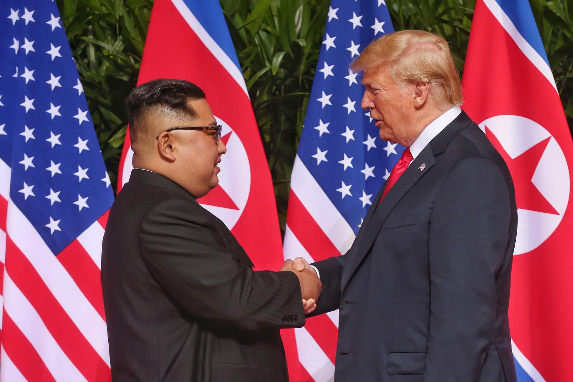 Donald Trump handshakes