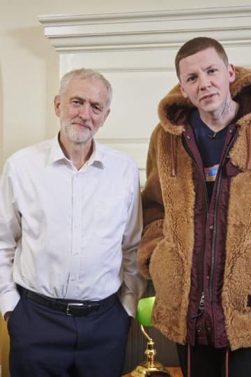 Professor Green and Jeremy Corbyn